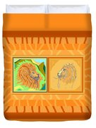 Lion Pair Warm Duvet Cover