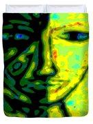 Two Faces - Green - Female Duvet Cover