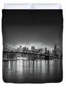 Bright Lights Of New York Duvet Cover