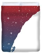 Night Climbing II Duvet Cover
