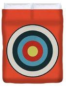 Vintage Target - Orange Duvet Cover