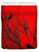 Raven - Black Over Red Duvet Cover