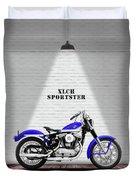 The Sportster Vintage Motorcycle Duvet Cover