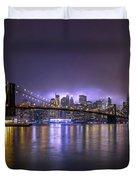 Bright Lights Of New York II Duvet Cover