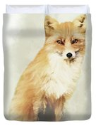 Woodland Fox Portrait Duvet Cover