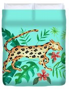 Cheetah's Hunt Duvet Cover