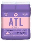 Retro Airline Luggage Tag 2.0 - Atl Atlanta United States Duvet Cover