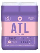 Retro Airline Luggage Tag 2.0 - Atl Atlanta United States Duvet Cover