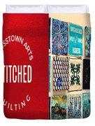 Stitched Quilting Exhibit Duvet Cover