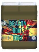 Dragon Boat Race Duvet Cover