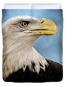 Bald Eagle And Fledgling  Duvet Cover