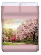Asian Cherry Grove Duvet Cover