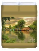 At Home On The River Duvet Cover