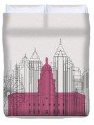 Atlanta Landmarks Duvet Cover