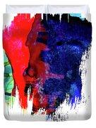 Atlanta Skyline Brush Stroke Watercolor   Duvet Cover