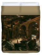Attack By Pirates Duvet Cover