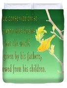 Audubon Warbler Quote Duvet Cover