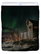Aurora Borealis Over Harstad Duvet Cover