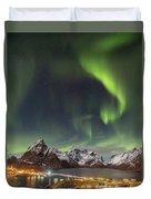 Aurora In Lofoten Duvet Cover