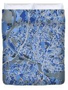 Austin Map Retro 5 Duvet Cover