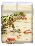 Australian Water Dragon Duvet Cover
