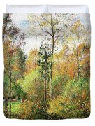 Automne, Peupliers, Eragny - Digital Remastered Edition Duvet Cover