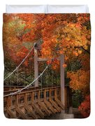 Autumn Across The Bridge  Duvet Cover