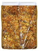 Autumn Golden Leaves Duvet Cover