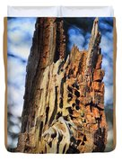 Autumn Knotty Tree Sculpture Duvet Cover