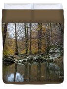 Autumn On The Kings River Duvet Cover