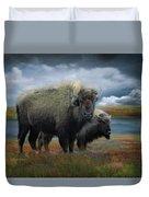 Autumn Plains Bison Duvet Cover