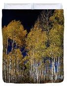 Autumn Walk In The Woods Duvet Cover
