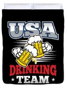 Bachelor Party Usa Drinking Team Beer Party Cheers Gift Duvet Cover