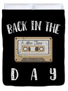 Back In The Day 80s Cassette Funny Old Mix Tape Duvet Cover