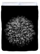 Backyard Flowers In Black And White 46 Duvet Cover by Brian Carson