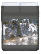 Badlands Winter Duvet Cover