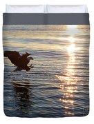 Bald Eagle At Sunset Duvet Cover