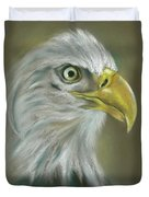 Bald Eagle With A Keen Eye Duvet Cover by MM Anderson