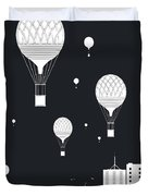 Balloons And The City Duvet Cover