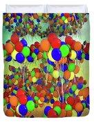 Balloons Everywhere Duvet Cover