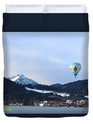 Balloons Over Tegernsee Duvet Cover