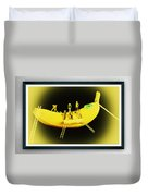 Banana Boat Mining Company Black Frame Duvet Cover