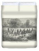 Band Of Captives In The Village Of Mbame Duvet Cover