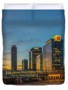 Banking Giants Too Atlanta Midtown Sunset Atlanta Georgia Art Duvet Cover