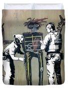 Banksy Coppers Pat Down Duvet Cover by Gigi Ebert