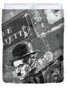 Banksy Rue La Lafayette Duvet Cover by Gigi Ebert