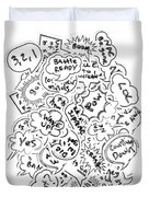 Banter Bubbles From A Comic Creation Duvet Cover