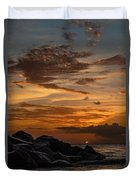Barbados Sunset Clouds Duvet Cover