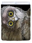 Barking Owls 2 Duvet Cover