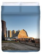 Barn And Silos Duvet Cover